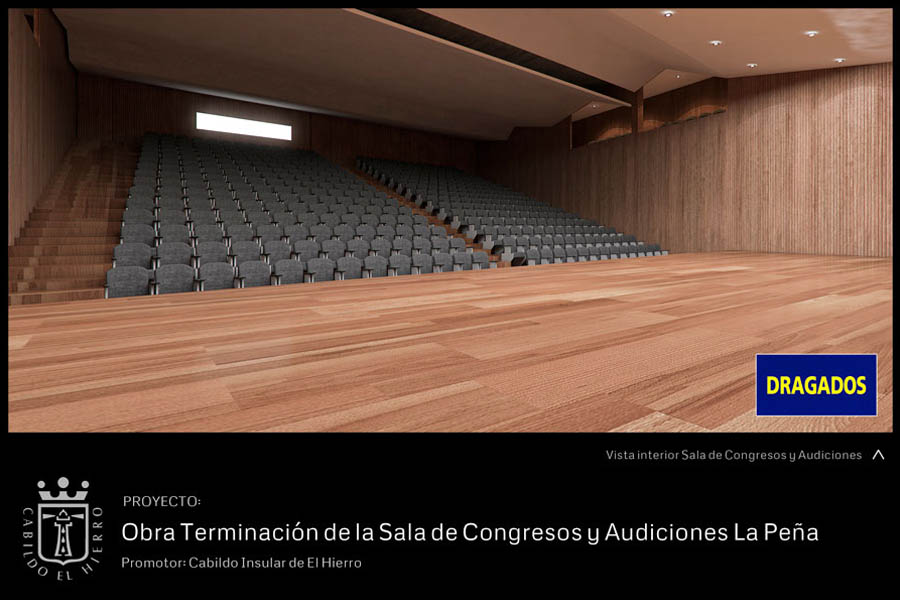 Render interior de un auditorio