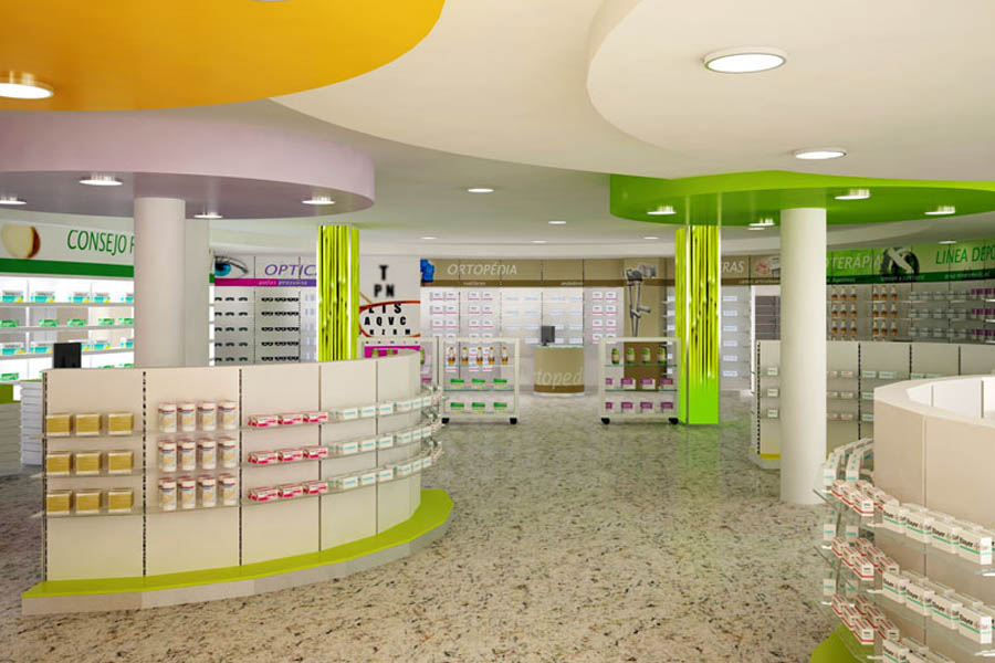 Render interior de una farmacia