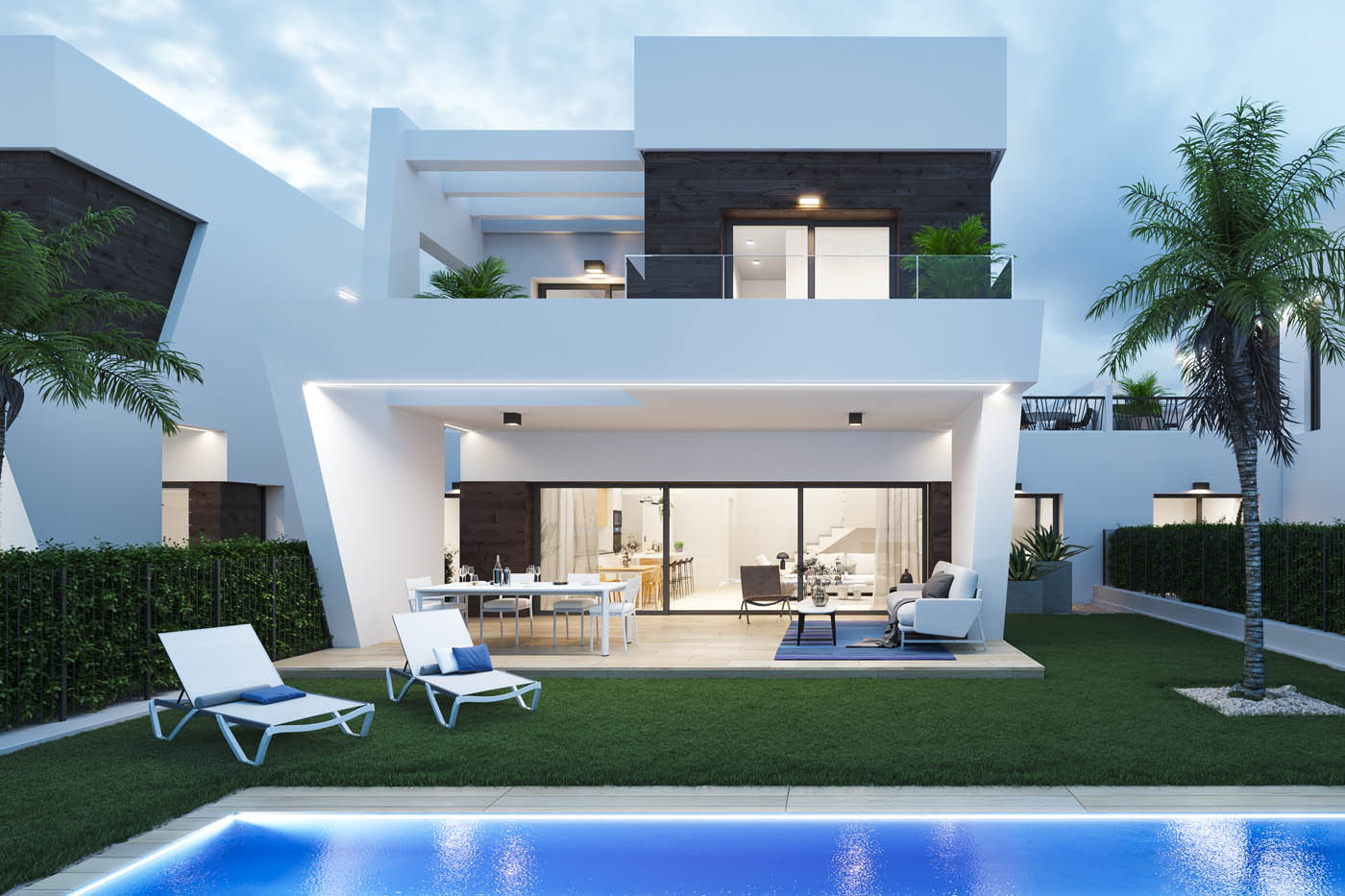 Renders 3D Villas Green de Campana Bay en Finestrat