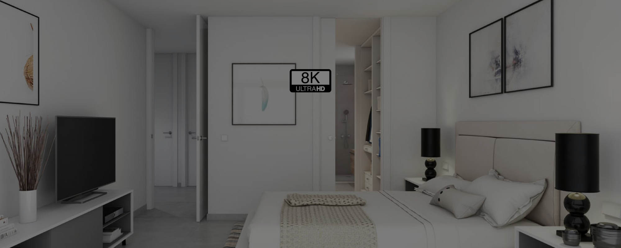Renders 3D de interiores a resolución 8K Ultra HD